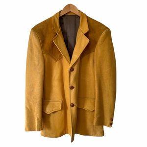 Vintage Buckskin Leather Jacket Custom Made Coat